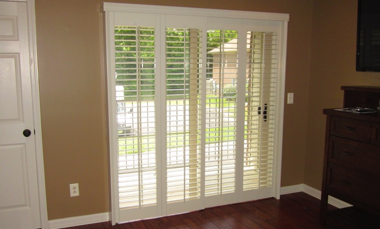 Jacksonville sliding door bifold shutters in patio